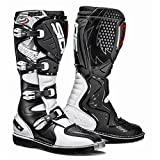 Sidi Agueda - botas de motocross, branco / preto