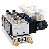 Heschen, válvula solenóide elétrica pneumática 4V210-08 DC 24V PT1 / 4, 5 vias, ...