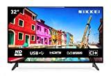 NIKKEI NH3214 - 81 cm, TV de 32 polegadas (compatível com HD, 1366 x 768, 1 Scart, 3 HDMI, ...