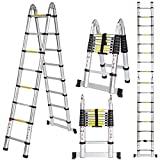 Escada telescópica Meditool 5M Escada dobrável de alumínio (2,5 m + 2,5 m), ...