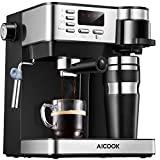Máquina de café Aicook, máquina de café 3 em 1 (máquina de café americana ...