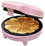 Ferro de waffle Bestron ASW217, 700 W, plástico, rosa