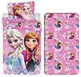 Capa de edredon Frozen Elsa and Anna 3 peças 140x200, fronha 50x70, ...