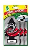 Magic Tree 102710 ambientador para carros, fragrância esportiva Tris, preto / branco / vermelho, conjunto ...