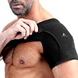 Órtese de ombro Anoopsyche para direita e esquerda, bandagem de neoprene ajustável para ...
