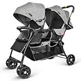 Besrey Twin Stroller Double Stroller Carrinhos gêmeos - cinza + ...