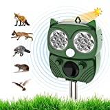 Repelente de gato, repelente de ultrassom Energia solar IP66 à prova d'água ...