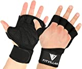 Luvas FITVILLAIN para ginástica e levantamento de peso Crossfit - ombreiras Crossfit ...