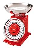 Balanças mecânicas de cozinha Karcher - design retro / vintage - máx. 5 kg -...