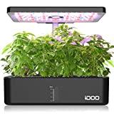 Cultivo interno iDOO com sistema de iluminação LED automático, jardim ...