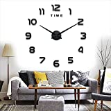Relógio de parede moderno Yolistar DIY, adesivo de relógio de parede 3D ...
