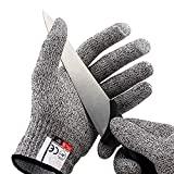 Luvas de tela sensível ao toque resistentes ao corte EzLife, luvas de proteção nível 5 ...
