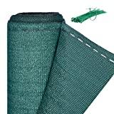 Relaxdays, rede de vedação verde para cercas e balaustradas, tecido HDPE, ...