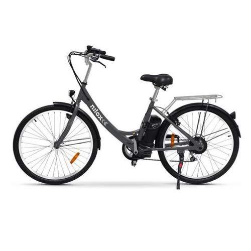 Nilox E Bike X5, bicicleta urbana elétrica com pedal assistido, rodas de 26 polegadas, velocidade 25 km / h, alcance de 55 km, preta
