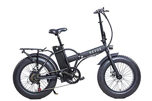 Revoe 551691 Dirt Vtc 20 'bicicleta elétrica dobrável, preta