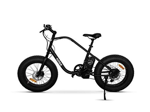 "Nilox E Bike X3, pedal auxiliar fat bike, 20 "", 36 V / 250 W - adulto, preta, tamanho único"
