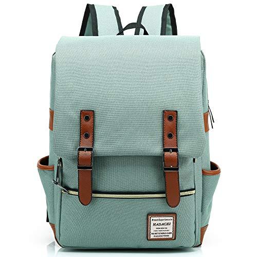 A melhor mochila de lona para mulheres: mochila de lona HASAGEI unissex
