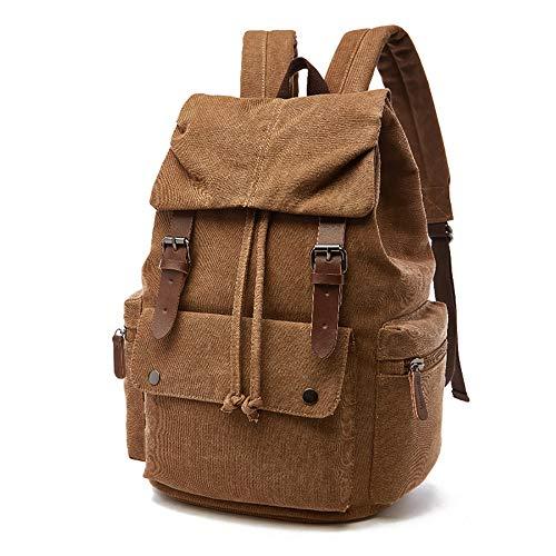 Melhor mochila de lona vintage: mochila de lona vintage Rufun