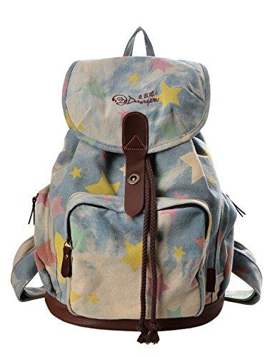 3. Mochila DGY Fashion em lona e couro PU 117 Denim: uma mochila hippie, mas casual