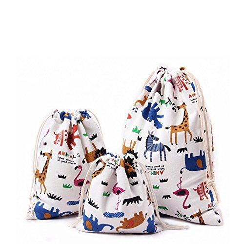 Melhor mochila de saco para o jardim de infância: sacos de algodão com cordão